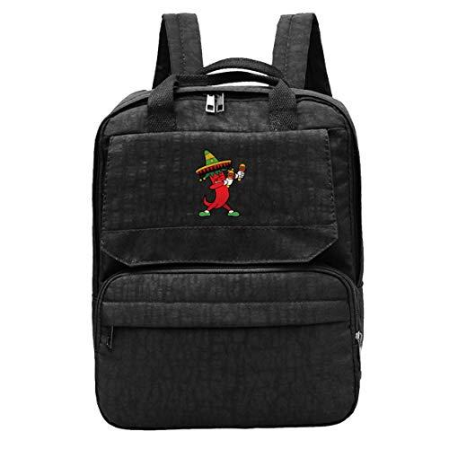 - Dancing Chili Pepper Men's Travel Backpack Adjustable Shoulders Bag For Camping