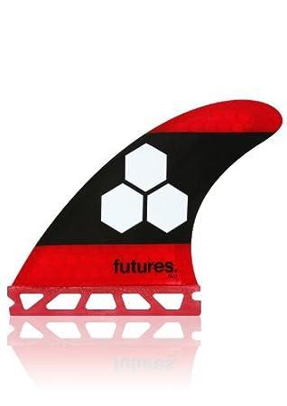 Future Fins al Merrick AM3 fam3 Red/Black Tabla de Surf Thruster Fin Set Honeycomb