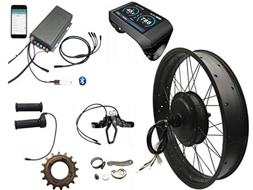 NBpower 5000w Electric Fat Bike Conversion kit sabvoton Controller 100KM/H max Speed, with TFT Color Display System…