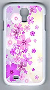 Umberella with Flower Hard Cover Back Case For Samsung Galaxy S4,PC White Case for Samsung Galaxy S4 i9500