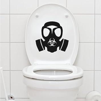 Mascara de buceo gran asiento de inodoro tapa arte de pared - 50cm Altura - 50cm