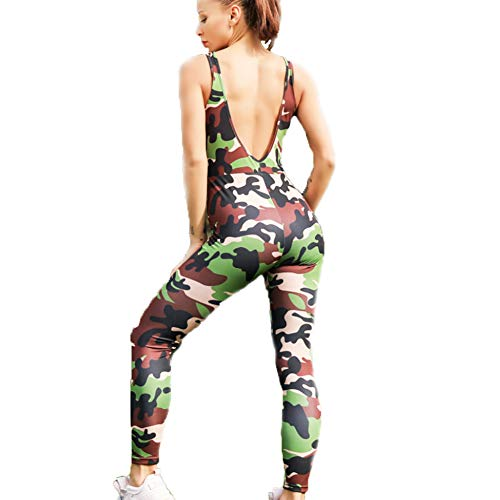 Hocai Yoga Outfits for Women One Piece Camouflage Women's Workout Training Tracksuits (S) ()