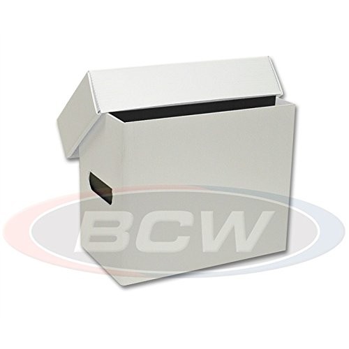 BCW 1-BX-Short-PL-WHI White Plastic Comic Book Short Storage Box by BCW