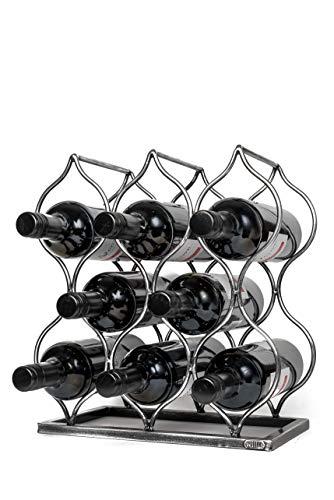 Will's Tabletop Wine Rack – Imperial Trellis (8 Bottle, Silver) – Freestanding countertop Wine Rack and Wine Bottle…