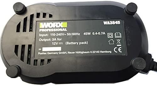 Worx WA3845 Cargador para 12 V WA3503 - Batería compatible ...