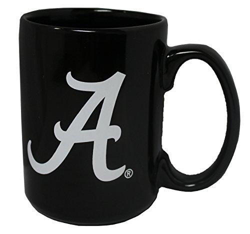 Memory Company Alabama Crimson Tide 15oz Black Ceramic Coffee - Mug Alabama