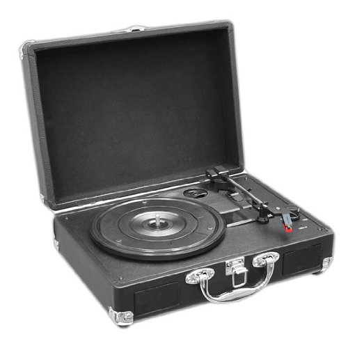 PYLE PVTT2UBK Retro Belt-Drive Turntable with USB-to-PC Conn
