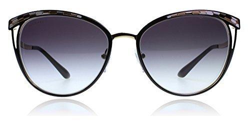 Bvlgari BV6083 20188G Black / Gold BV6083 Cats Eyes Sunglasses Lens Category 3