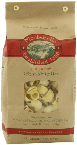 Montebello Organic Pasta, Conchiglie, 16-Ounce Bag (Pack of 5) (Conchiglie Pasta compare prices)