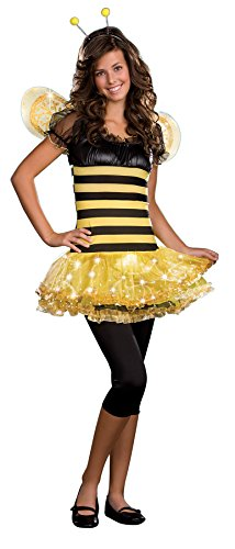 [UHC Teen Busy Bumble Bee Outfit Theme Party Fancy Dress Girls Halloween Costume, JR XS (0-2)] (Scary Bee Costume)