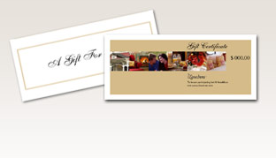Buy Gift Certificates for Bed and Breakfasts