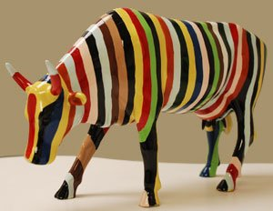 Museum Edition CowParade Striped Cow by 20112