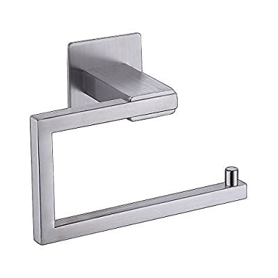 Kes Self Adhesive Toilet Paper Towel Holder Tissue Paper Roll Holder RUSTPROOF Stainless Steel Polished Finish, BPH7200-P
