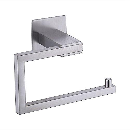 KES Self Adhesive Toilet Paper Towel Holder Tissue Paper Roll Holder RUSTPROOF Stainless Steel Brushed Finish, BPH7200-2