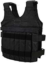 Adjustable Weighted Vest Max Load 20kg 12 Pouches Gym Running Fitness Sports Training Weight Loss Jackets Exer