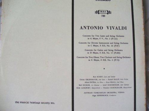 (Vivaldi: Concertos For Two Lutes in G Major / Guitar in D major / Diverse Instruments in C Major / Two Oboes in C Major)