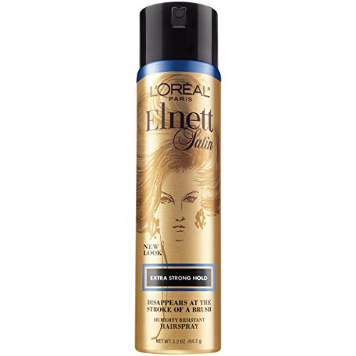 L'Oreal Paris Elnett Satin Hairspray Extra Strong Hold Travel Size 2.2 oz. (Packaging May Vary)