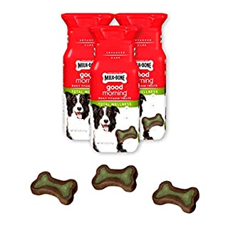Milk-Bone Good Morning Daily Vitamin Treats Total Wellness - Pack of 3, 6 Oz. Ea.