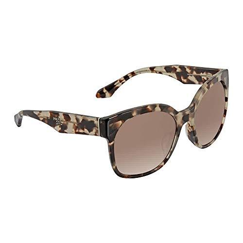 Prada VOICE PR10RSF Sunglasses UAO3D0-57 - Spotted Opal Brown Frame, Light Brown PR10RSF-UAO3D0-57 (Prada Voice)