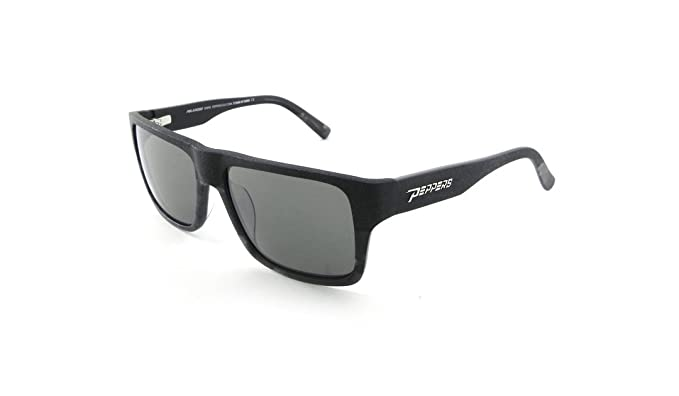 7374f9f97d Peppers KAHUNA Black Shiny Grey Silver Flash Mirror Polarized Sunglasses
