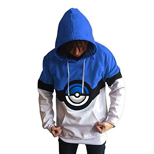 EkarLam Men's Fall Winter Fleece Pokemon Hoodies Sweatshirt Youths Pullover Photo - Pokemon Gaming