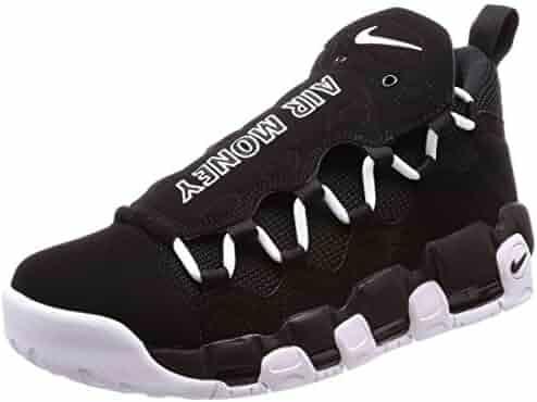new styles 49db8 20b1e NIKE Men s Air More Money Black White Black Basketball Shoe 12 Men US