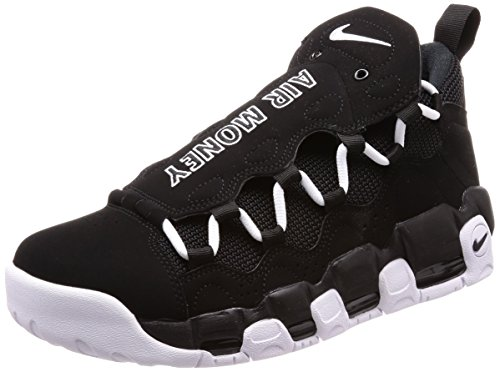 Nike Men's Air More Money Fitness Shoes, Black Black (Black / White 001)