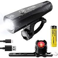 Victagen 1000-Lumen USB Rechargeable LED Bike Light Set