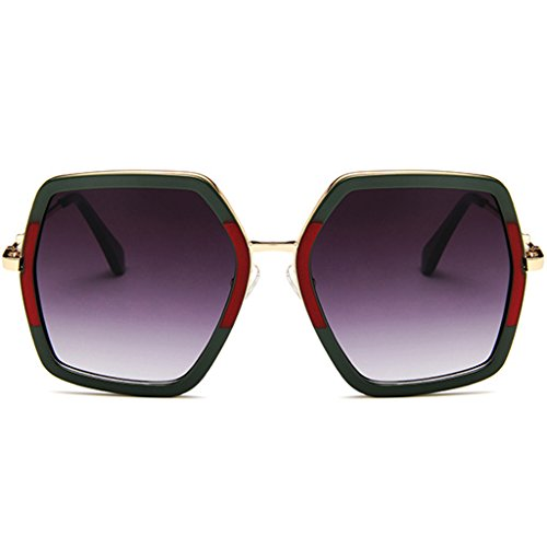 Hukai 2018 New Colorful Polygon Large Frame Sunglasses Protection Goggles Outdoor Glasses - Chicken Sunglasses With