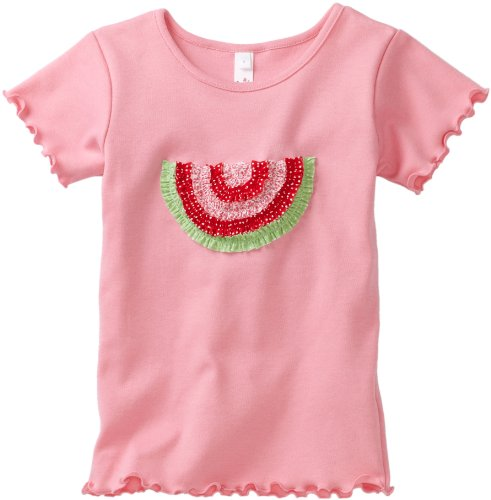 Love U Lots Little Girls' Ruffle Watermelon Baby Tee