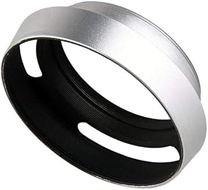 37mm 39mm 40.5mm 43mm 46mm 49mm 52 mm 55mm 58mm Aluminium Silver Lens Oblique Cover Internal Thread Hood for Leica SLR