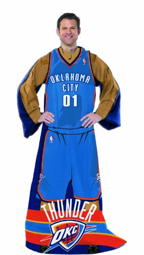 """Officially Licensed NBA Oklahoma City Thunder Full Body Player Adult Comfy Throw Blanket, 48"""" x 71"""""""