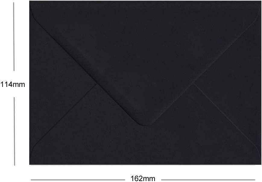83 mm x 112 mm Buste nere confezione da 100 100 g//mq formato C7