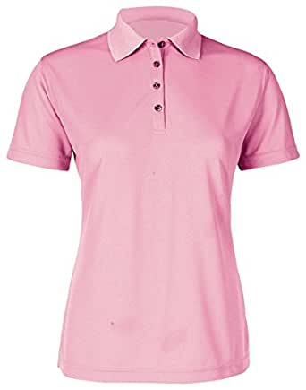 Paragon Women's 4-Button Performance Polo Shirt, Charity Pink, X-Small