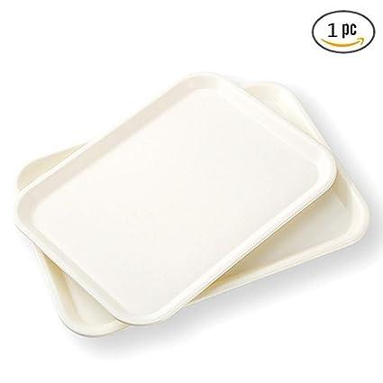Zzaini Rectángulo De anidación Bandeja para Servir,Plástico Moldes para Hornear Pan Bandeja Desayuno Tabla