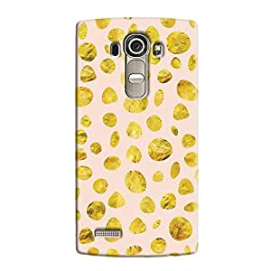 Cover It Up - Pink Gold pebbles LG G4 Hard case