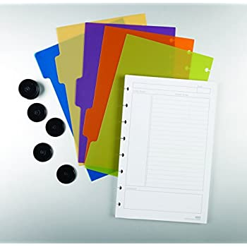 """Staples Arc Customizable Notebook System Accessory Kit , Junior Size, 5-1/2"""" x 8-1/2"""", 5 Assorted Dividers (25194)"""