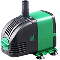 Submersible Water Pump, 14W Corded Electronic Fountain Water Pump for Aquarium, Pond, Fish Tank, Water Pump Hydroponics