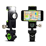 In Bicycle Phone Mount Holder Mtb Mountain Bike Motorcycle Handlebar Clip Stand For 52-87mm Smartphones With Led Light For Compass Superior Quality