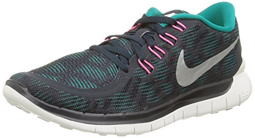 Nike Free Women Shoes (Nike Women's Free 5.0 Print Running Shoes Grey/Green/Pink Color Size 8.5)