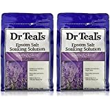 Dr Teals Lavender Epsom Salt - Soothe and Sleep - 3lbs - 2 Bags