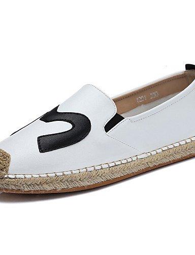 Zq Cn40 us8 Comfort 5 White Zapatos Negro Plano 5 Trabajo Gyht Mocasines Blanco Uk6 us8 Tacón Mujer Oficina Black De Vestido Cn39 Casual Uk6 Semicuero Eu39 Y BTrBfwq
