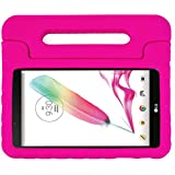 LG G Pad F 8.0/G Pad II 8.0 Kids Case - LTROP Protective Light Weight Shock Proof Convertible Handle Stand Case Cover for LG G Pad F 8.0/G Pad II 8.0 Tablet - Rose
