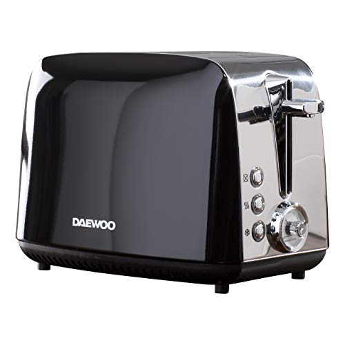 DAEWOO SDA1776, Stainless Steel, Black 2 slice toaster