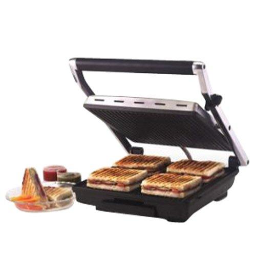Borosil Super Jumbo BGRILLSS23 2000-Watt Grill Sandwich Maker (Black)