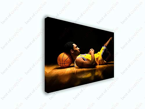 Kobe Bryant Dreams Classic Basketball Sports Painting Canvas Print Art Decor Wall Wall Decor/Home Decoration Stretched Gallery Canvas Wrap Giclee Print Ready to Hang (12