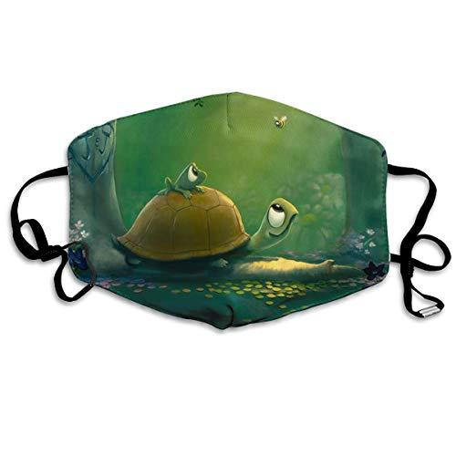 SyjTZmopre Tortoise Mouth Mask Unisex Printed Fashion Face Anti-dust Masks