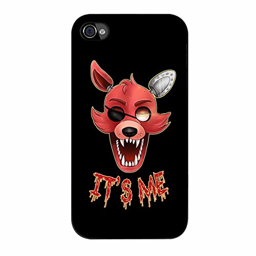 Cover Five Nights At Freddy S Foxy Cover Case / Color Noir Plastic / Device iPhone 4/4s