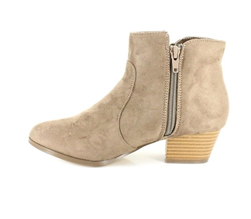 Brown Platino Brown Block 1 Suedette Ankle New 13 UK Heel Luxurious Material Sizes Boots Girls UUTFqxB