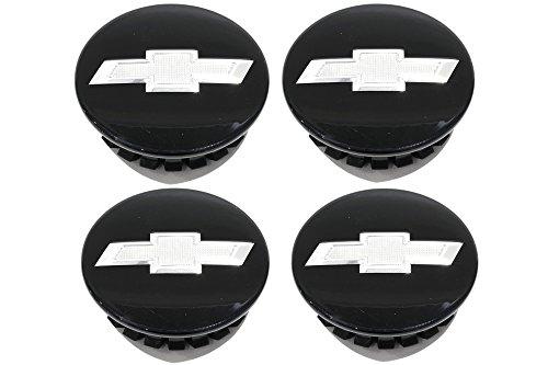 GMC OEM New Wheel Hub Center Caps Set Black w/Chrome Bowtie 12-18 Chevrolet 22791586 ()